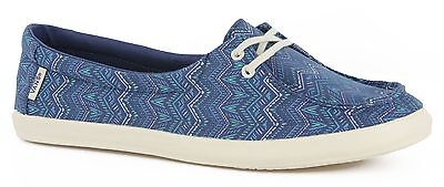 aff0df4f7c Vans Off the Wall Womens Surf Shoes Rata Lo Tribal STV Navy Blue Flats 9.5  NWT