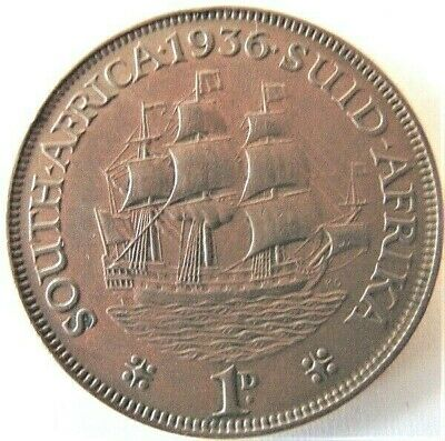 1936 SOUTH AFRICA,George V, 1 Penny grading EXTRA FINE.