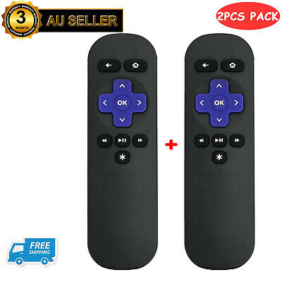 2-Pack Replacement Remote Control for ROKU 1 2 3 4 Telstra TV 1, Telstra TV 2