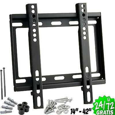 """SUPPORT TV MURAL LCD DEL PLASMA 14"""" a 42"""" 40kg RÉGLABLE ROBUSTE PLAT Support"""