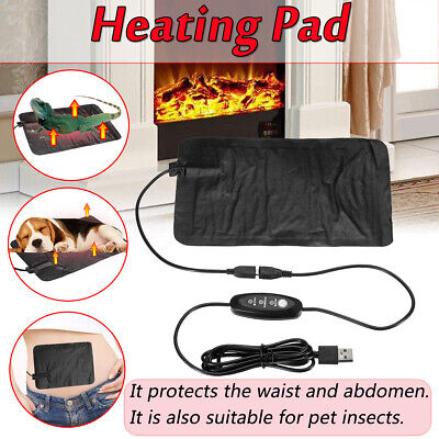 AU Pet Dog Cat Electric Adjustable Heat Pad Reptile Heating Mat Warmer Blanket
