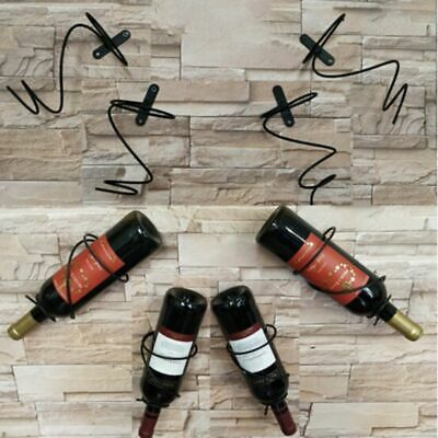 Iron Wall Mounted Wine Bottle Rack Holder Display Shelf Kitchen Bar Storage Home