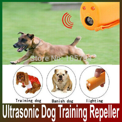 Ultrasonic Anti Stop Barking Pet Dog Train Repeller Control Trainer Device AT