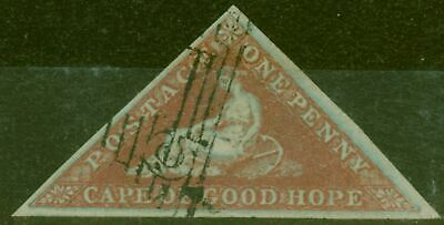 Cape of Good Hope 1858 1d Dp Brick-Red SG1a Superb Used Choice Example