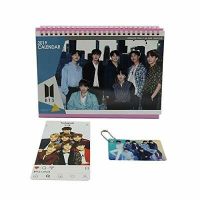 BTS Bangtan Boys Desk Calendar with Photo card with Key ring and Instagram ca