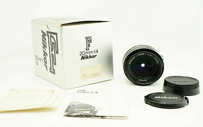 Nikon Non-Ai Nikkor 20mm f/4 Wide Angle MF Lens BOX from Japan Excellent+