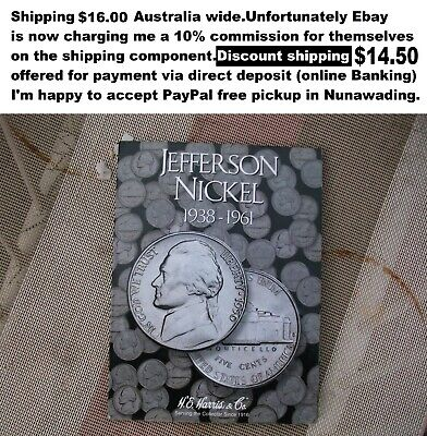 Jefferson Nickels complete set in Album 1938-1961