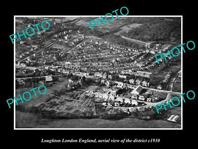 OLD LARGE HISTORIC PHOTO LOUGHTON LONDON ENGLAND, DISTRICT AERIAL VIEW c1930 2