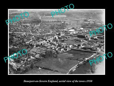 Old Large Historic Photo Of Stourport On Severn England, View Of The Town 1930 3