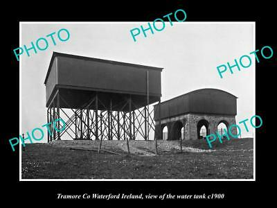 OLD LARGE HISTORIC PHOTO OF TRAMORE WATERFORD IRELAND, THE TOWN WATER TANK c1900
