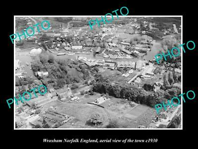 OLD LARGE HISTORIC PHOTO OF WROXHAM NORFOLK ENGLAND, VIEW OF THE TOWN c1930 3