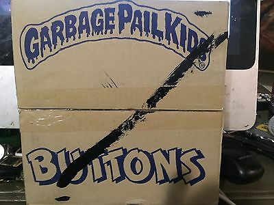 Box Of 72 Mint Unused Garbage Pail Kids Buttons Pins From 1986 New Old Stock