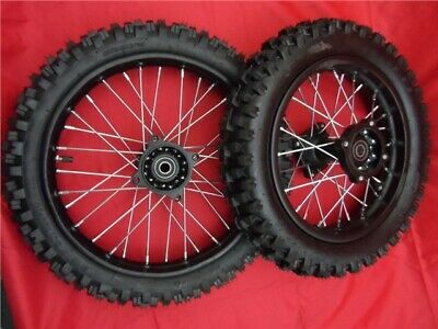 """15mm STEEL SDG 12"""" REAR 14"""" FRONT  WHEELS WITH MX TYRES FOR PIT BIKE"""