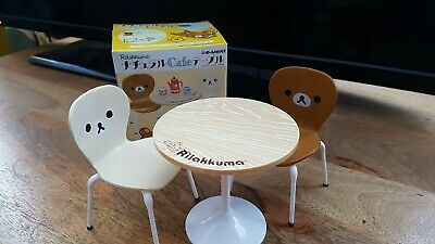 1/6 Scale Table And 2 Chair Set For Doll. Rilakkuma. Re-ment. Natural Cafe...