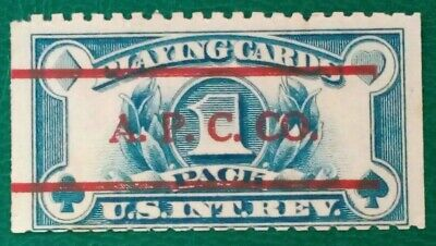 Sello Estados Unidos. US Tax Stamp. Playing Cards 1 Pack. 1940-65