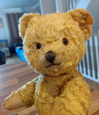 """ANTIQUE BEAR - OLD VINTAGE TEDDY 1930s 1940s 9"""" SMALL JOINTED SWEET LITTLE BEAR"""