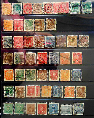 Lot Of 70 Early Canadian Issues – Used Hinged – Canada Stamps