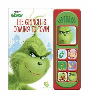 Dr. Seuss' Illumination Play-A-Sound The Grinch is Coming to Town Book NEW B108