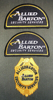 Allied Barton Security Services Shoulder Patch Badge Lot Of 3 New A264