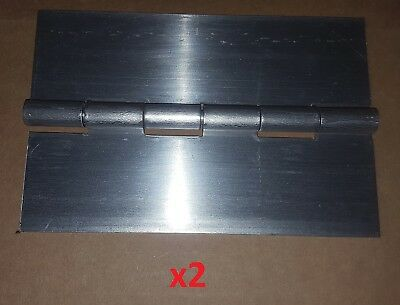 2 PC  090 Steel Continuous/Piano Hinge 14 x 4 HEAVY Duty