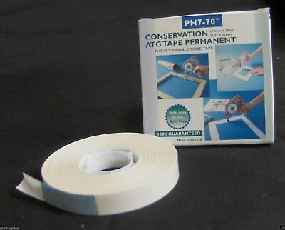 PH7-70 ATG  CONSERVATION DOUBLE SIDED MOUNT TAPE ~ pH Neutral (Acid Free 12mmx30