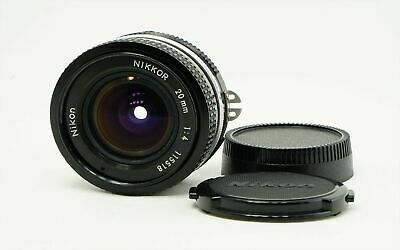 Nikon NIKKOR 20mm f/4 Ai Wide Angle Manual Focus MF Lens from Japan Excellent