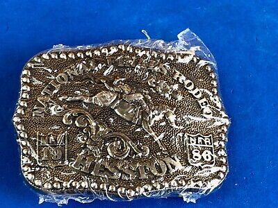 1986 Hesston Belt Buckle National Finals Rodeo NFR