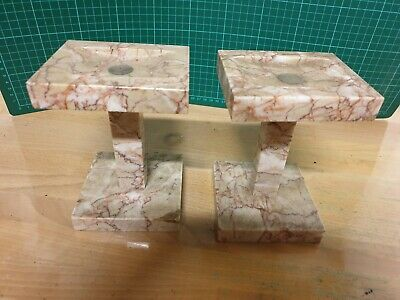 Antique Marble Side Ornaments For Mantel clock Good Condition