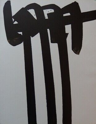 Stein SOULAGES : Lithografie Nr.28 - Lithografie Originell # 1970