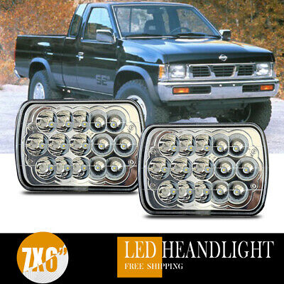 Full Led Sealed Hi Lo H6054 7x6 Headlight Clear Front 2x For 90 97