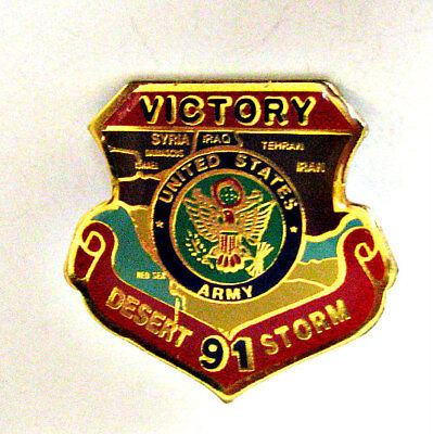 ⫸ 016 Pin – Vintage 1991 Victory Desert Storm US Army Pin
