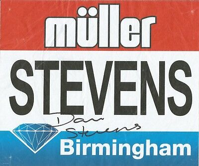 Athletics: Dani Stevens Signed Birmingham Diamond League 2017 Worn Bib+Coa