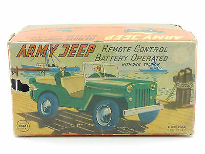 Linemar Toys Marx NUR Originalkarton Army Jeep empty tin toy box OVP 1411-27-89