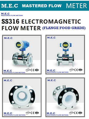 Flow Meters M.E.C Industrial Electromagnetic Food Grade SS316 Flange