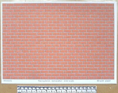 Dolls House 1//12th Scale Grey Roof Tile Paper A4 Sheet 297x210 mm
