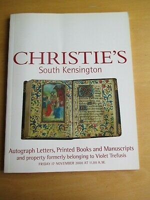 Christie's Auction 2000 Autograph Letters, Books & Property Of Violet Trefusis