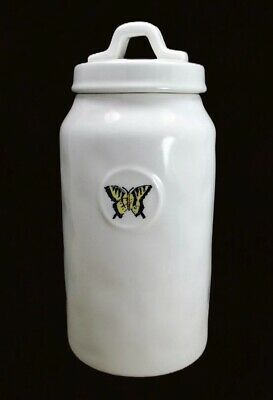Rae Dunn Butterfly Canister Lidded Treat Jar Artisan Collection by Magenta
