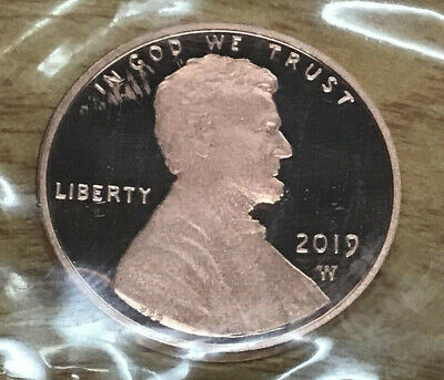 2019 W Lincoln Shield Cent Proof Deep Cameo 1¢ New Penny WEST POINT MINT