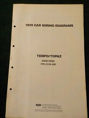 1989 ford tempo & mercury topaz electrical schematic wiring diagram manual