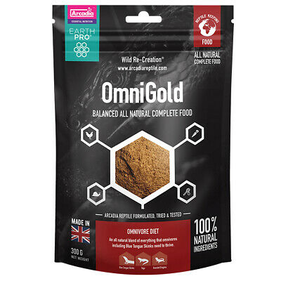 Arcadia Earth Pro Omni Gold, 300g Natural Gel food for Omnivores Vitamin A & D3