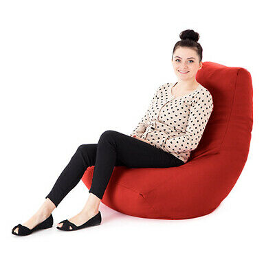 Red Faux Leather Adult Bean Bag Gaming Chair Gamer Beanbag Highback Large XXL
