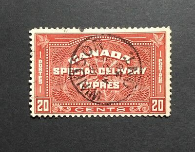 Stamps Canada E5 20c henna brown Special Delivery Stamp of 1939 Very Fine Used