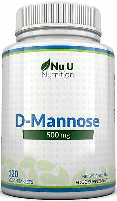 D-Mannose Tablets 500mg Mannose High Strength Suitable for Vegetarian Vegans
