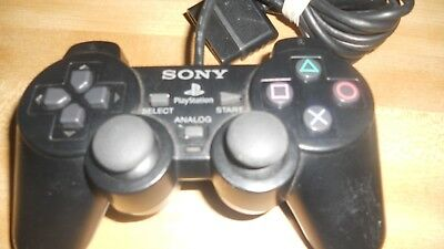 3 Sony PlayStation 2 PS2 Dual Shock 2 Black Wired Controller OEM Original