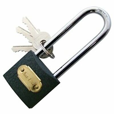Heavy Duty 38mm Strong Long Shackle Padlock Door Gate Security Lock Solid Iron