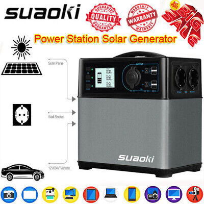 400Wh Solar Power Generator Inverter Supply Energy Storage Charging Station USB
