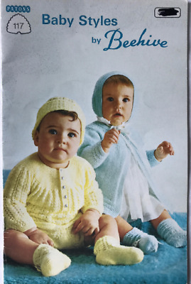 Baby Styles by Beehive - Vintage Knitting Patterns Book No. 117 - 1970s Patons