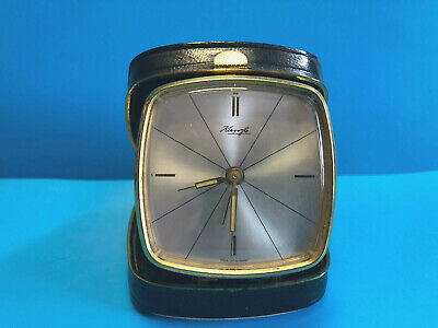 Old Vtg Collectible Kienzle Travel Alarm Clock West Germany Couple With Old Car