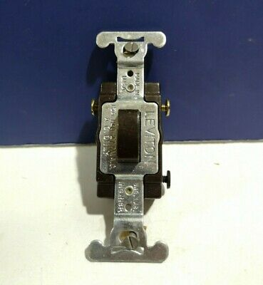 Leviton BROWN Single Gang 3-Way Push Button Press TAP Touch Switch 5573 NEW Wow!