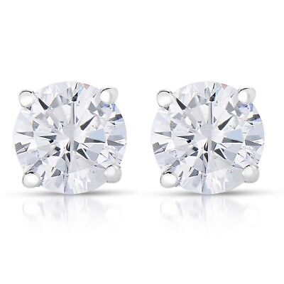 Vir Jewels 1/4 cttw Round Diamond Stud Earrings 14K white gold women's valentine
